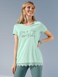 Tričko s lesklou potlačou