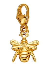 Bienen-Einhänger in Gelbgold