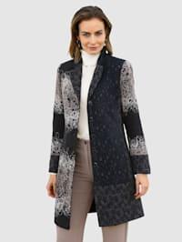 Krátky kabát v módnom Patchwork vzhľade
