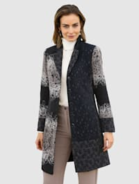 Manteau court au look patchwork mode
