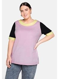 Shirt in Colour-Blocking-Optik