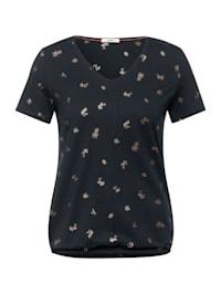 T-Shirt mit Folienprint