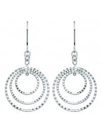Damen Silberschmuck 925 Silber Ohrringe / Ohrhänger Ø 22,1 mm