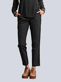 Kalhoty postranně s kontrastními galonovými proužky