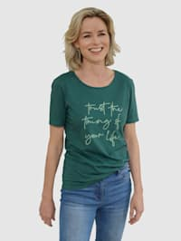 T-shirt à inscription mode