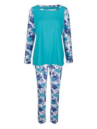 Schlafanzug mit bedruckten Ärmeln