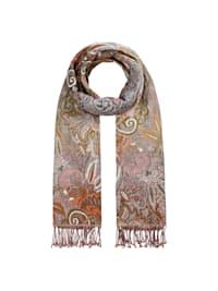 Paisley-Schal mit Baumwolle und Wolle