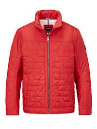 Gewatteerde jas met bijzonder stikselpatroon