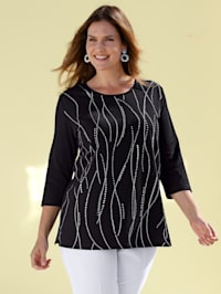 Shirt mit silbernem Printdesign