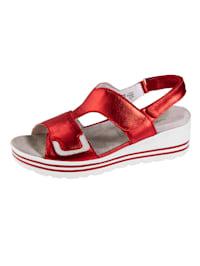 Sandales à application brillante mode