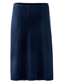 Jersey sukně módní střih