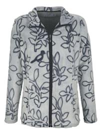 Fleece vest met bladerenmotief