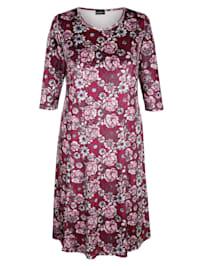 Robe en velours à motif fleuri