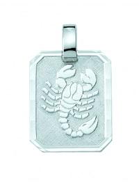 Damen & Herren Silberschmuck 925 Silber Sternzeichen Anhänger Skorpion