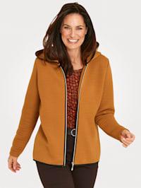 Sweat bunda ze strukturovaného materiálu