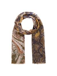 Mustermix-Schal aus feiner Wolle mit Seide