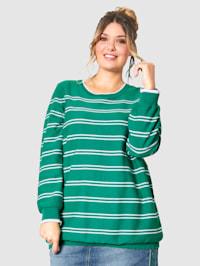 Pullover allover geringelt