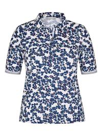 Shirt mit geblümtem Muster und Druckknöpfen