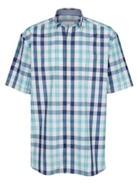 Skjorte i garnfarget rutemønster
