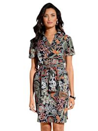 Kleid mit floralem Muster allover