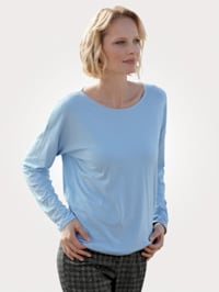 Shirt met fonkelende strassteentjes