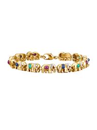Armband med elefanter på rad
