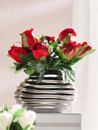 Composition de roses dans un vase