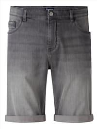 Jeansbermuda in sportief 5-pocketmodel
