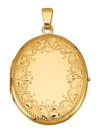 Pendentif médaillon en or jaune 585