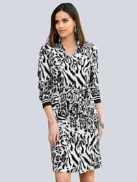 Kleid im exklusivem Animal-Dessin bei Alba Moda