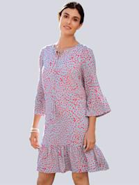 Šaty s abstraktním květinovým potiskem