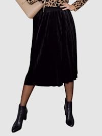 Sametová sukně v plisé vzhledu