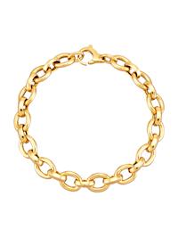 Bracelet maille ancrée en or jaune 585
