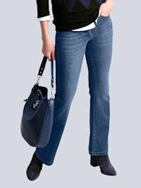 Jeans med utställda byxben