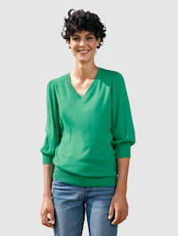Pull-over à petites manches bouffantes