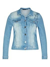 Jacke mit Stickerei und langen Ärmeln