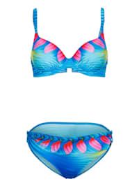 Bikini à bretelles à coques souples