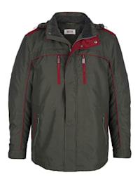 Dlouhá bunda s odnímatelnou kapucí