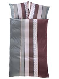 Ložní prádlo z Mako saténu'Cornflower Stripes'