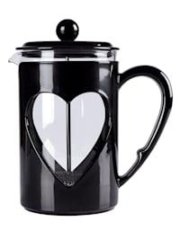 Kaffee- & Teebereiter 'Herz', 0,8 Liter