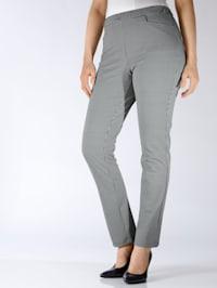 Pantalon à carreaux pepita bicolores