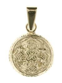 Anhänger - Hiddensee 13 mm rund - Gold 333/000 - ,