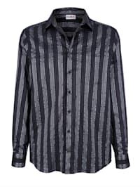 Skjorte i materiale med glans