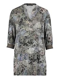 Tunika-Bluse mit 3/4 Arm Druck