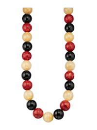 Halsband med ädelstenar i olika färg