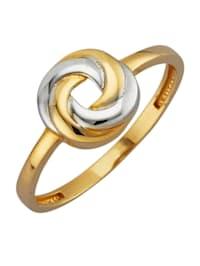 Knoten-Ring in Gelbgold 375