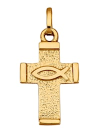 Pendentif Croix en or jaune 585