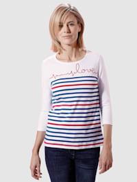 Shirt met hartslagborduursel