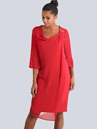 Kleid mit Chiffon-Lage
