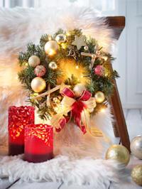 LED-joulukranssi